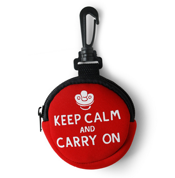 Zippit™ Pacifier Case (Keep Calm And Carry On)